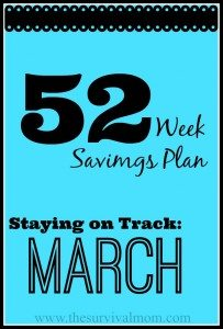 52 Weeks Savings Plan: Watch for these March sales!