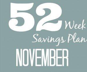 52 Weeks Savings Plan: November is full of deals