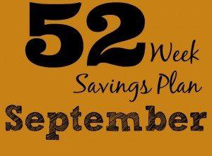 52 Weeks Savings Plan: Fall into September savings