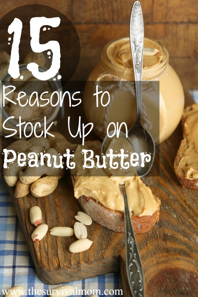 Nutritious with a long shelf-life, peanut butter is definitely something to add to your food storage pantry! | via www.TheSurvivalMom.com