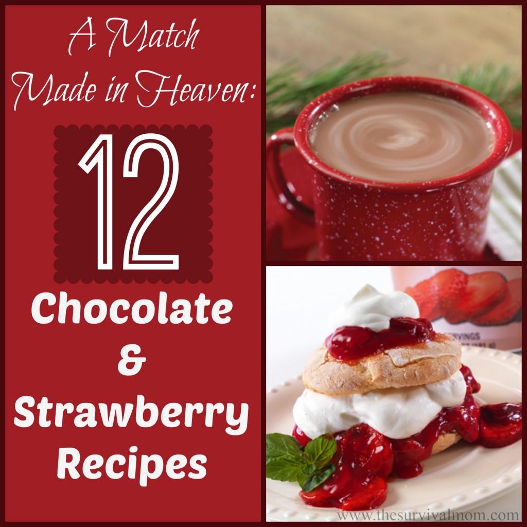 Mmmm....12 chocolate & strawberry recipes!   via www.TheSurvivalMom.com