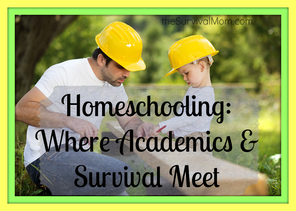 If you want your homeschooled child to become more self-reliant and learn more old-school skills, this post has some great ideas for homeschooling survival skills. | via www.TheSurvivalMom.com