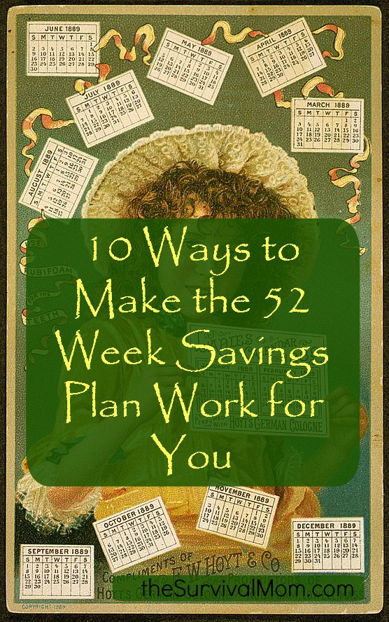 If you struggle to save money, try the 52 week savings plan this year. Read here for ideas to personalize it to you needs. - The Survival Mom