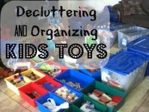 Decluttering and organizing kids toys
