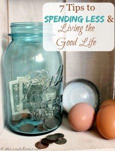 7 tips to spending less and living the good life