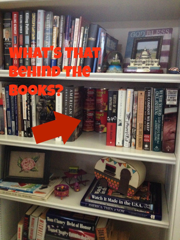 Bookshelf Cans