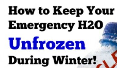 How to Keep Emergency Water in Your Vehicle Unfrozen During