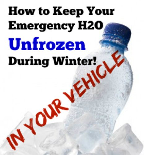 Keep Your Emergency Water From Freezing in Your Car During Winter   via www.TheSurvivalMom.com
