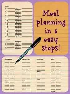 Try it Today! Meal planning in 6 easy steps! (Skill of the Month)