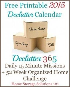 Daily decluttering missions