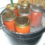 enchilada sauce in canner