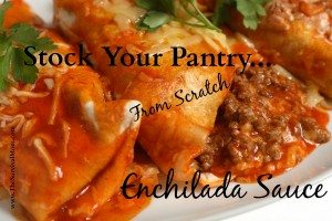 Are you trying to eat healthier? Make more things from scratch? Try this enchilada sauce recipe, and the taco seasoning to go with it. | via www.TheSurvivalMom.com