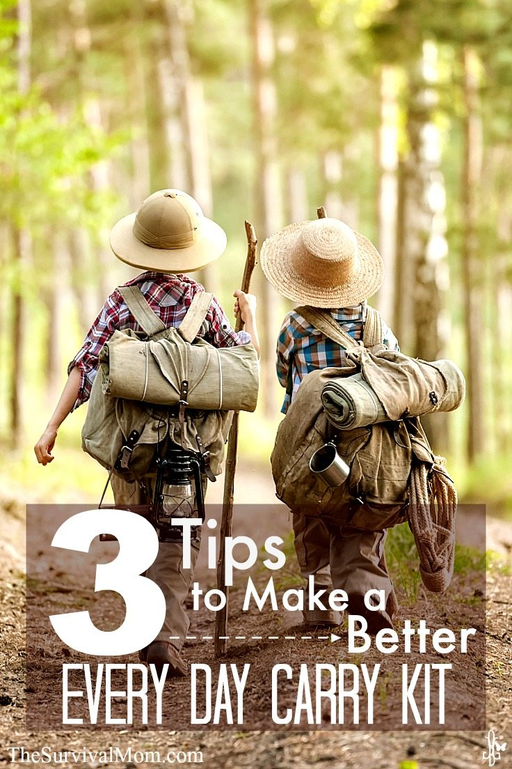 3 Tips to Make a Better Every Day Carry Kit via TheSurvivalMom.com