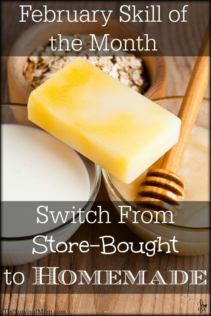 Switch from store-bought items to homemade for a healthier home. Budget-friendly, too! | via www.TheSurvivalMom.com