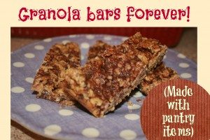 Granola bars forever! (Made with pantry items)