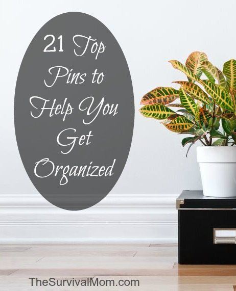 Get organized with Pinterest! These are some of the top 21 pins to help you!  | www.TheSurvivalMom.com
