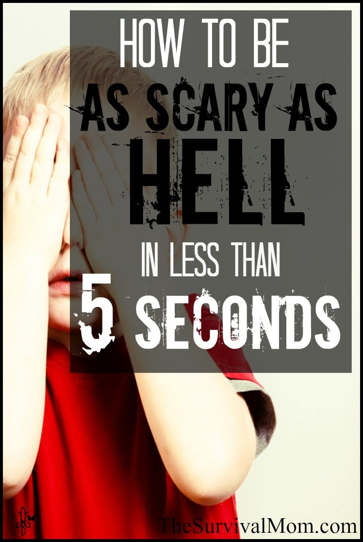Every woman needs to learn this! How to be as scary as hell in less than 5 seconds! | via www.TheSurvivalMom.com