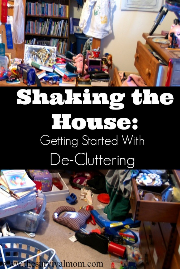 Shake that house and start decluttering by deciding which items you own are most important. | via www.TheSurvivalMom.com