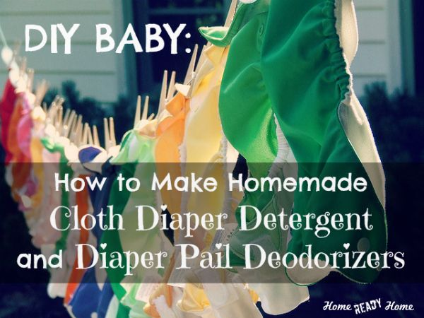 Homemade cloth diaper detergent
