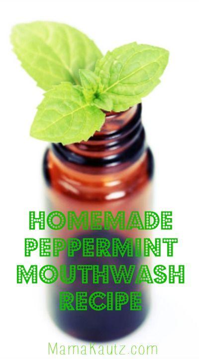 Homemade peppermint mouthwash recip