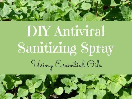 DIY sanitizing spray