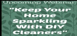 Free Webinar! Keep your home sparkling with DIY Cleaners!