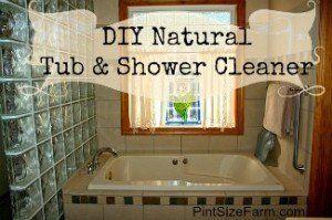 DIY Natural Tub & SHower cleaner