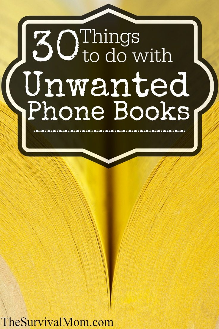 30 Uses For Phone Books Survival Mom