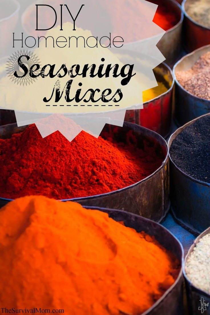 DIY homemade seasoning mix recipes. www.TheSurvivalMom.com