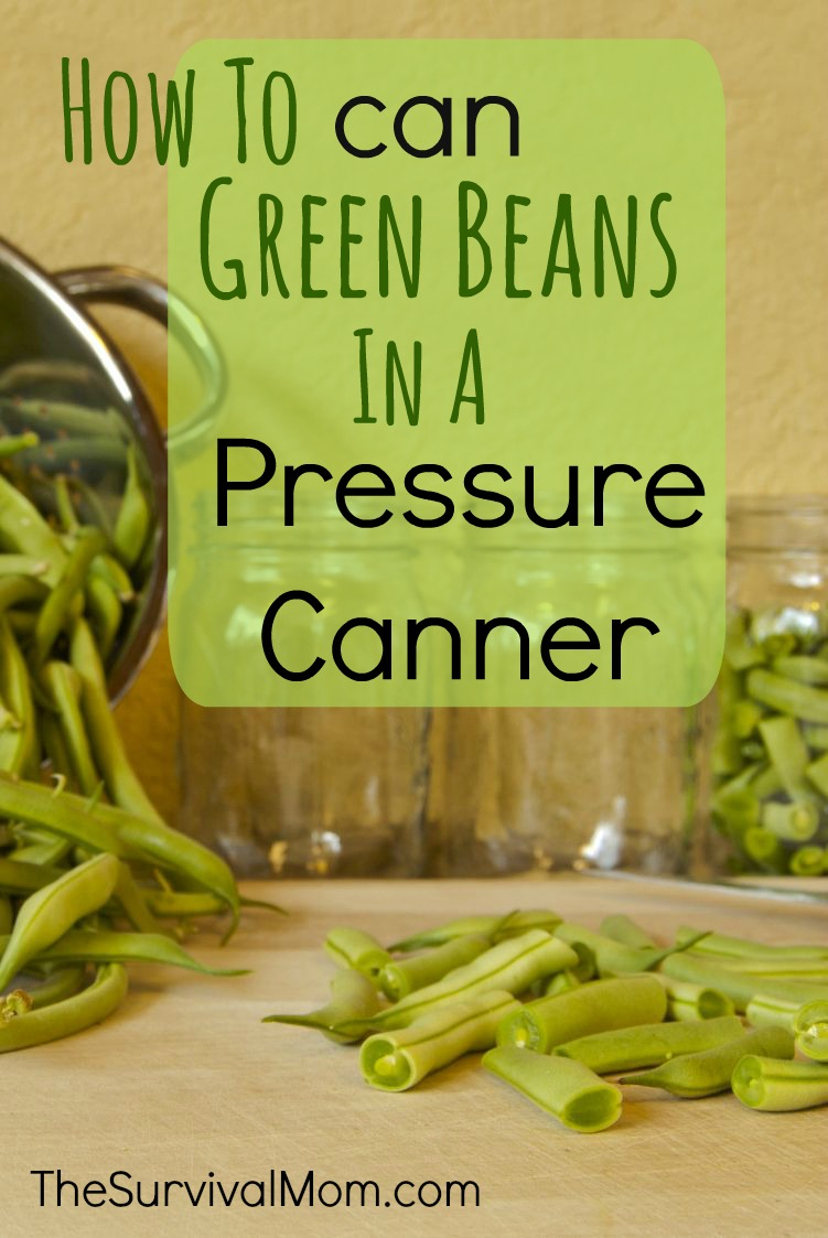 How to can green beans in a pressure canner.