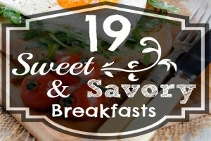 Sweet and savory breakfast recipes. www.TheSurvivalMom.com