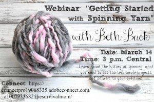 Coming this Saturday: Learn to spin yarn in this FREE webinar!