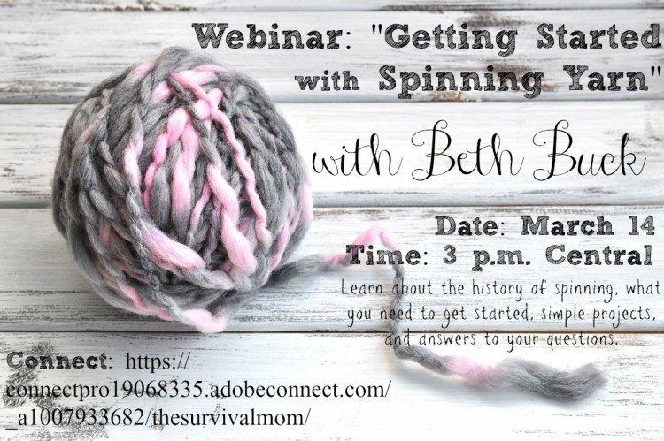 Getting started with spinning yarn -- free webinar!