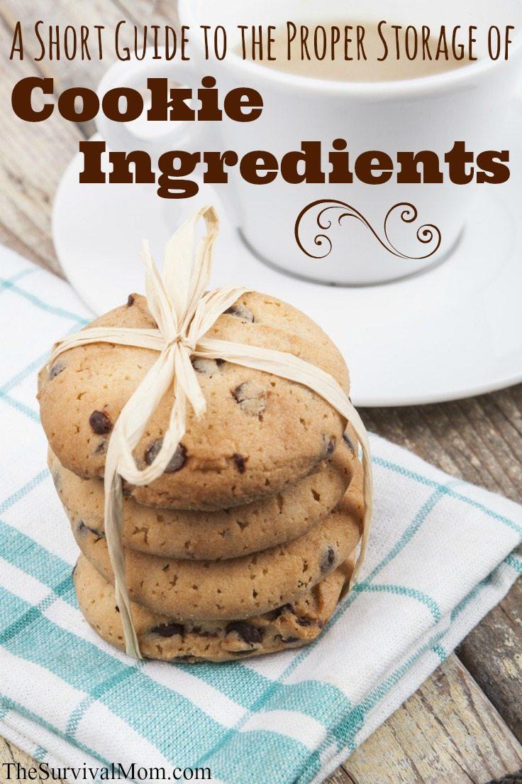 Storing cookie ingredients.