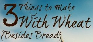 3 Things To Make With Wheat Besides Bread