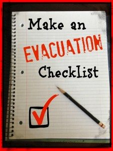 checklist for evacuations