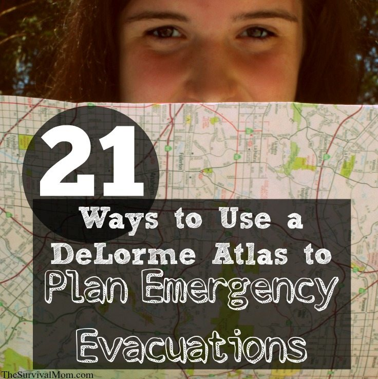 DeLorme Atlas plan evacuation routes