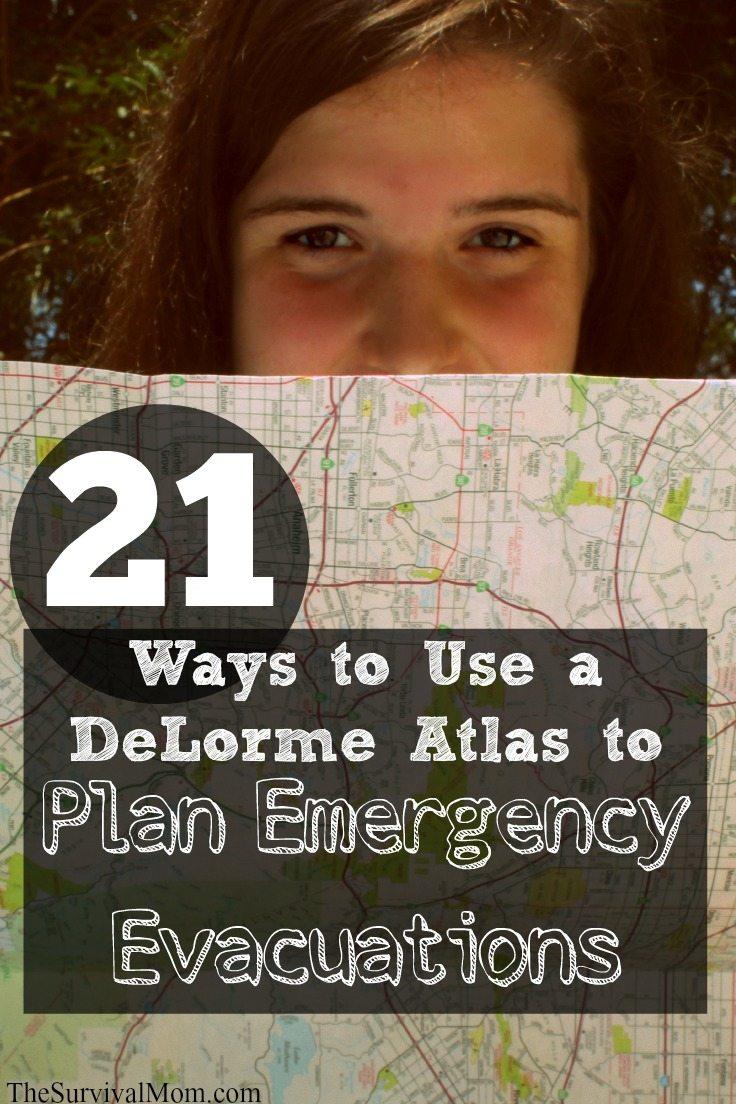 DeLorme Atlas evacuation routes