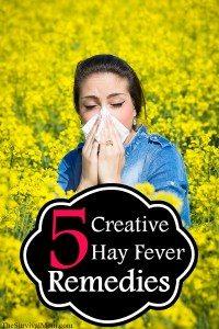 creative hay fever remedies