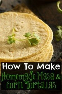 How to Make Homemade Masa & Corn Tortillas