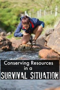 Conserving Resources in a Survival Situation
