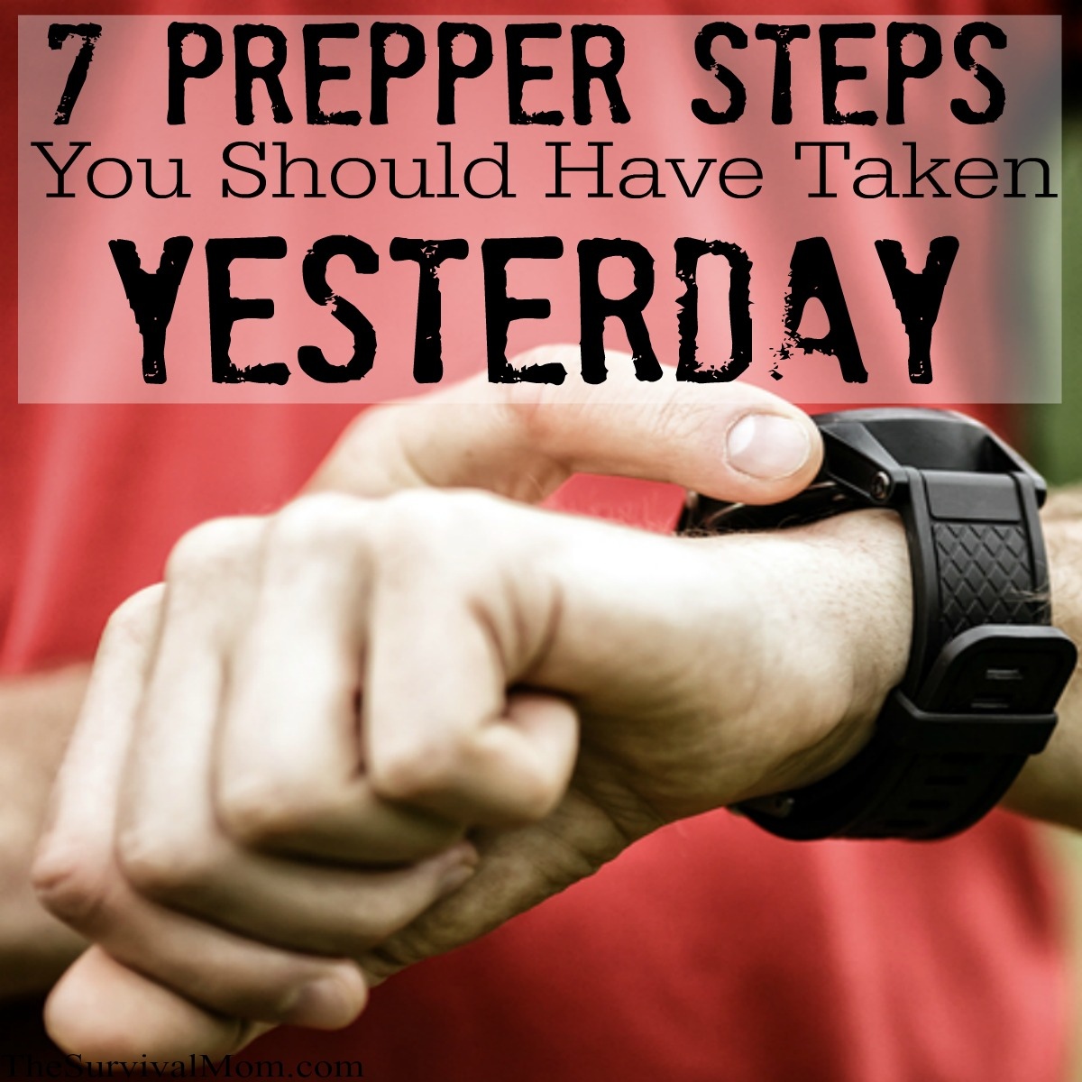 basic prepper steps