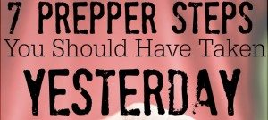 basic prepper steps