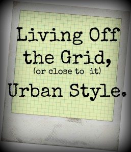 Living Off the Grid, (or Close to it) Urban Style