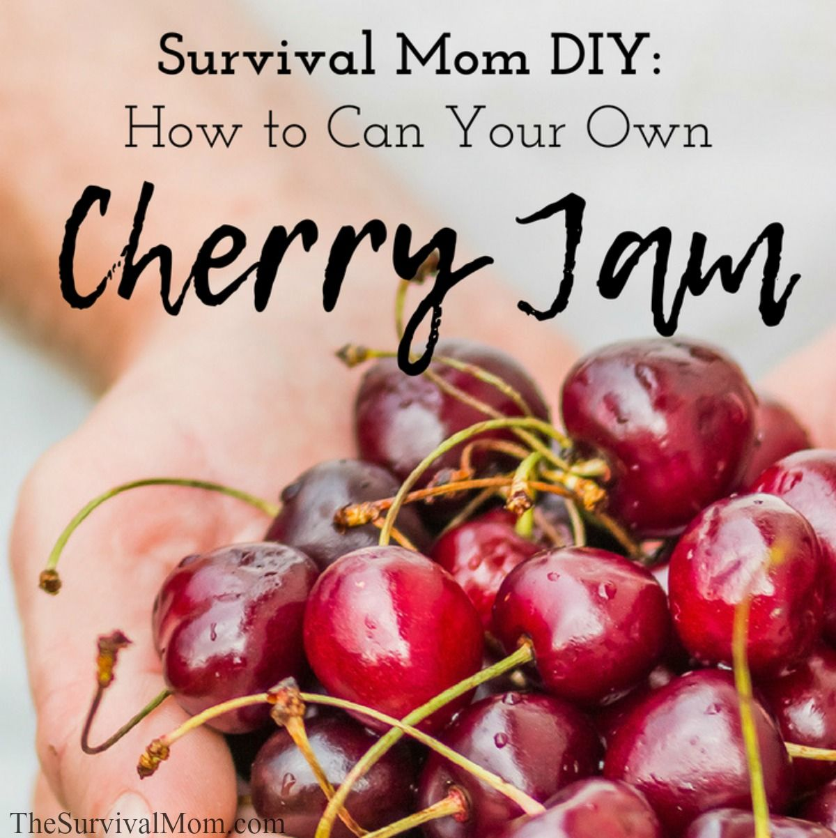 Survival Mom DIY How to Can Your Own Cherry Jam via The Survival Mom