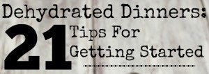 Dehydrated Dinners: 21 Tips for getting started