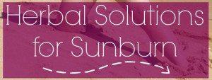 Herbal Solutions for Sunburn
