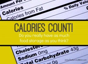 food storage calories