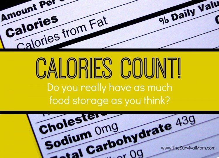 food storage calories