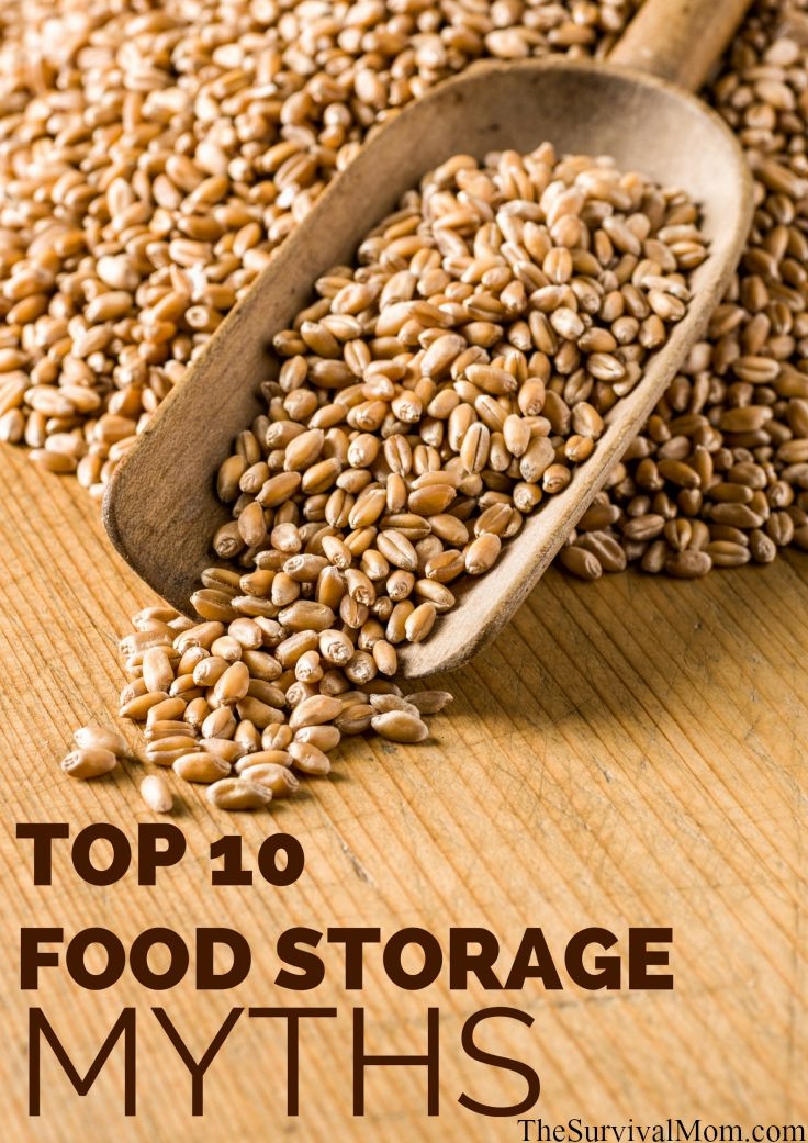 Top 10 Food Storage Myths via The Survival Mom